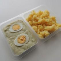 Koprová omáčka s vejcem, brambory