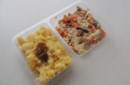 Zapečené rybí filé se zeleninou a houbami, brambory